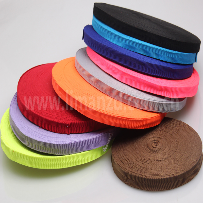 5/8 inch 15mm herringbone cotton ribbon bia tape for sale pink/red/purple/yellow/black/grey/blue color in stock