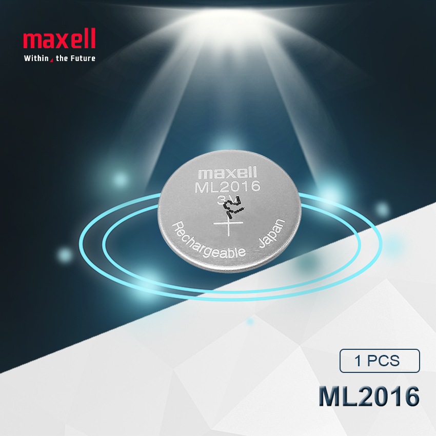 1 pc Maxell המקורי ML2016 ML 2016 3 v ליתיום ליתיום יון נטענת מטבע CMOS RTC סוללה סוללות