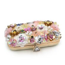 Milisente Spring Women Female Bags Flower Shape Wedding Party Clutch Purse Ladies Gold Day Clutches