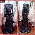 Df0801 superar Real amostra bela Lace manga comprida vestido