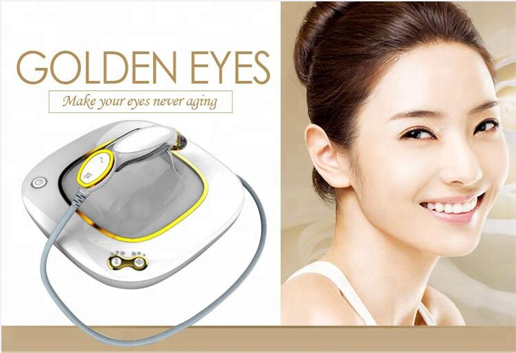 HIGH QUALITY !!! Golden Eyes Eliminate Wrinkles Beauty For Eye Caring And Ark Circles Wrinkle Removal RF Eye Massager Machine