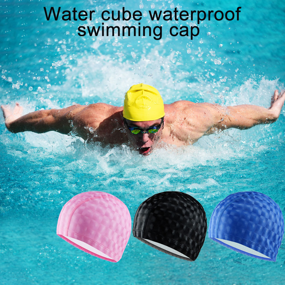Swimming Pool Swimming Cap Outdoor Waterproof Large Ear Protector Swimming Cap Quick-drying Lightweight Mesh Unisex Swimming Hat