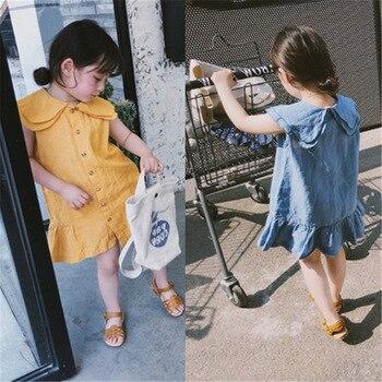 726fcd1972b4bc9 Mihkalev/Детское платье для девочек, летние платья, одежда для детей 2-8 лет,  танцевальное платье-пачка для девочек, хлопковое детское ТРАПЕЦИЕВИ.