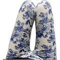 Fitness Ethnic style Chinese landscape pants High elasticity paintings flowers Mid Slim trousers Porcelain printed leggings