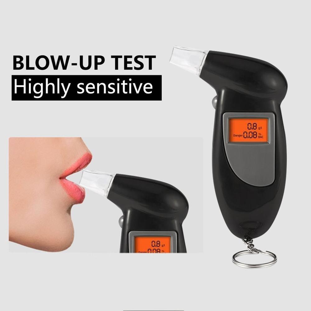 Digital Alcohol Breath Tester Breathalyzer Analyzer LCD Detector Backlight GLU