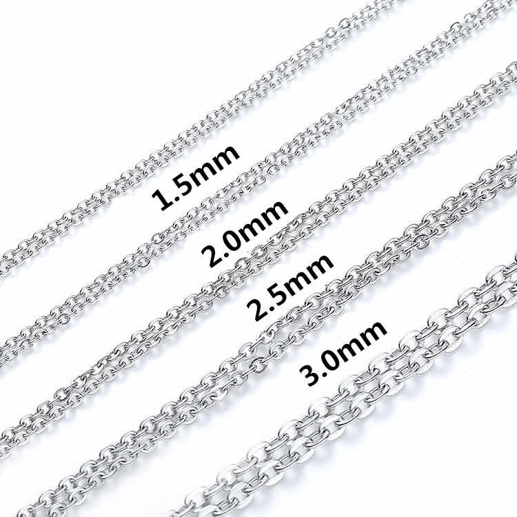 Never Fade 316 Stainless steel flat light cross chain Men Necklace Jewelry Man Charm Pendant Necklace For Male Accessories