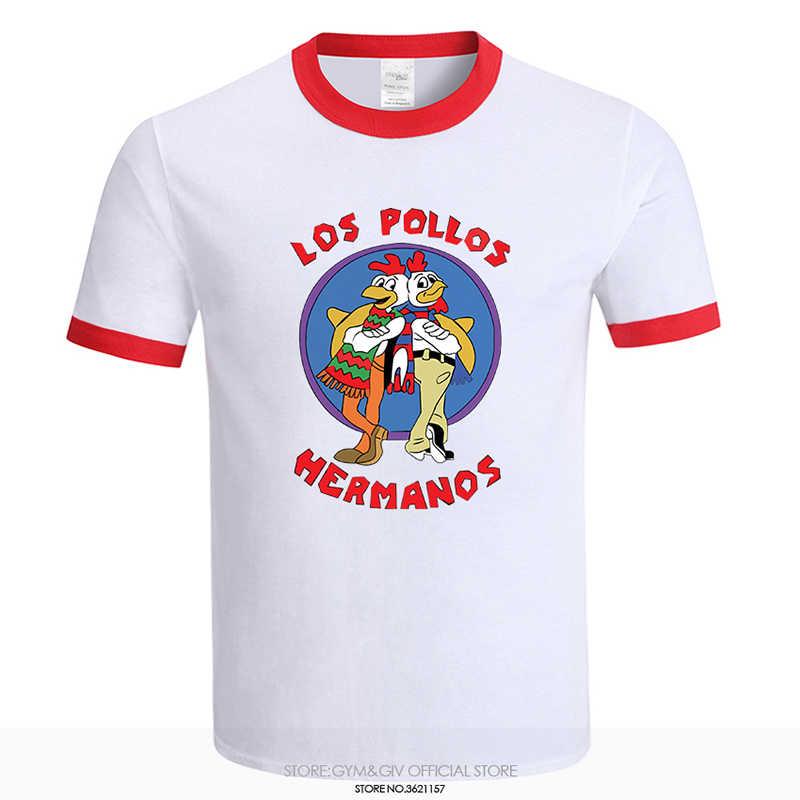 fed8328a48 Breaking Bad Shirt LOS POLLOS Hermanos camiseta pollo Hermanos 2018 Venta  caliente verano 100% algodón
