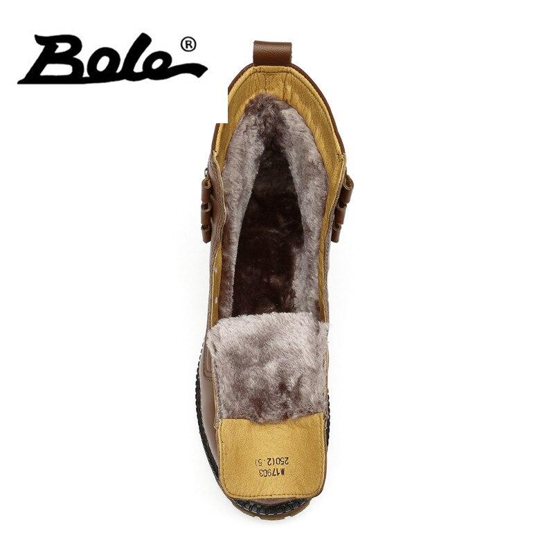 45 Grande Aumentando De Novo Altura Transparente Sapato Sola Tamanho Bole Quente amarelo Manter Genuína Pelúcia Couro Botas Neve Preto 37 Inverno Design AqWtp