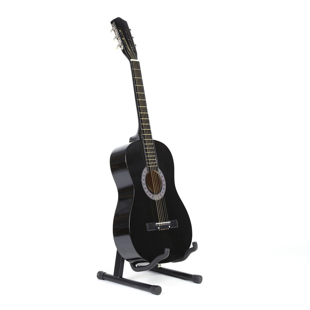 Guitar Stand Folding Guitar Floor Stand Holder Universal A Frame Fits Acoustic Bass Electric Guitars 40 x 31 x 23cm two way regulating lever acoustic classical electric guitar neck truss rod adjustment core guitar parts