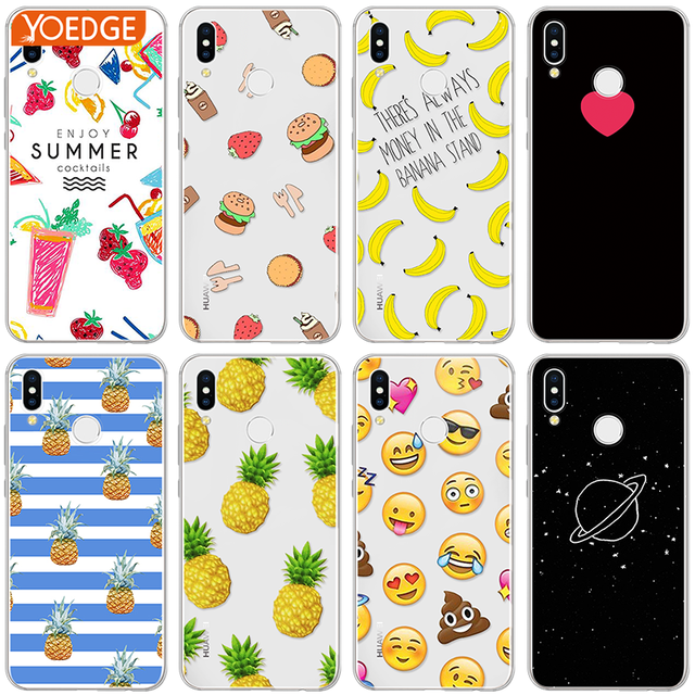 Interesting Food Fruit Case for Huawei P8 P10 P20 Pro Mate 10 Lite Mini 2017 TPU Phone Cover for Huawei P Smart Nexus 6p Coque