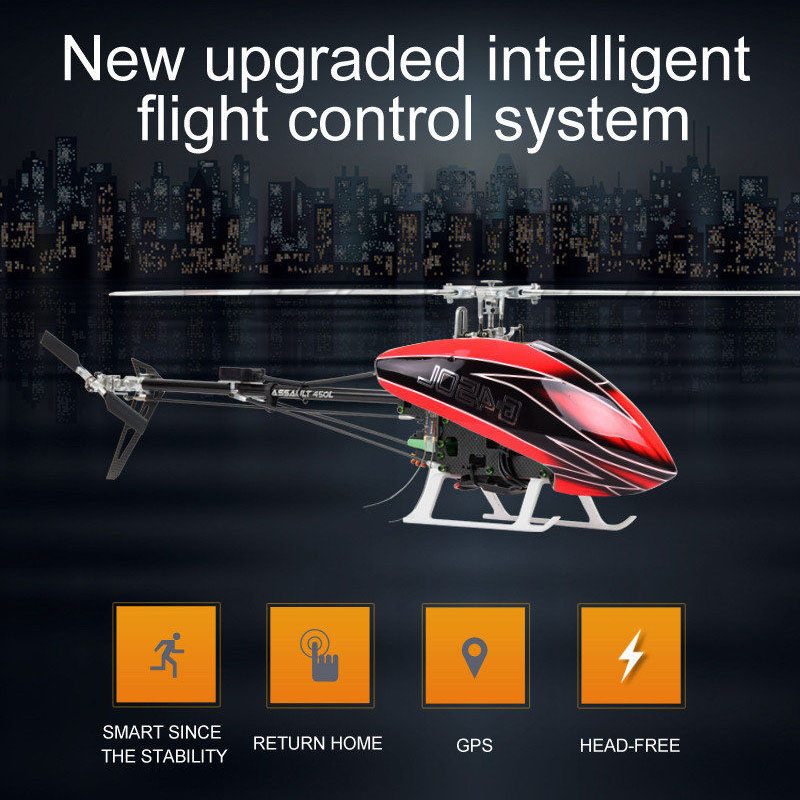 JCZK 6CH Smart 450L RC Helicopter RTF Helicopter GPS Blushless Aircraft AT9S 6CH Single Propeller Aileronless Drone Model Toy helicopter smart model heli schweizer 300c 450l 6ch rc high simulation electric gift no aileron toy