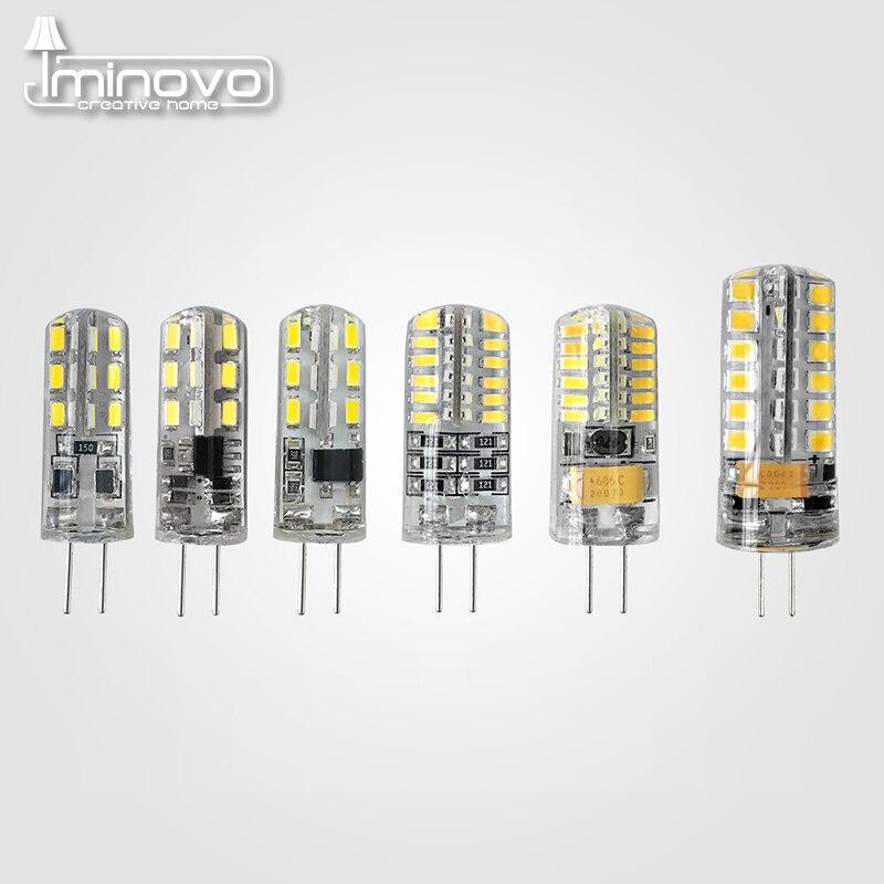 IMINOVO 10pcs G4 COB Light Bulb LED Lamp AC 12V AC 220V DC 12V 6W Dimmable SMD1505 Replace Halogen Lamps Chandelier Lights 2017 new r7s led 118mm 78mm dimmable instead of halogen lamp cob 220v 110v 230v energy saving powerful r7s led bulb 15w 30w