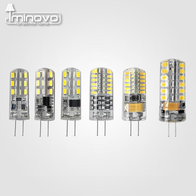IMINOVO 10pcs G4 COB Light Bulb LED Lamp AC 12V AC 220V DC 12V 6W Dimmable SMD1505 Replace Halogen Lamps Chandelier Lights