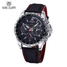 MEGIR Marca Deportiva reloj de Cuarzo Para Hombre Relojes de Primeras Marcas de Lujo de Cuarzo Reloj Correa de Cuero Hombre Reloj Relogio masculino 2016