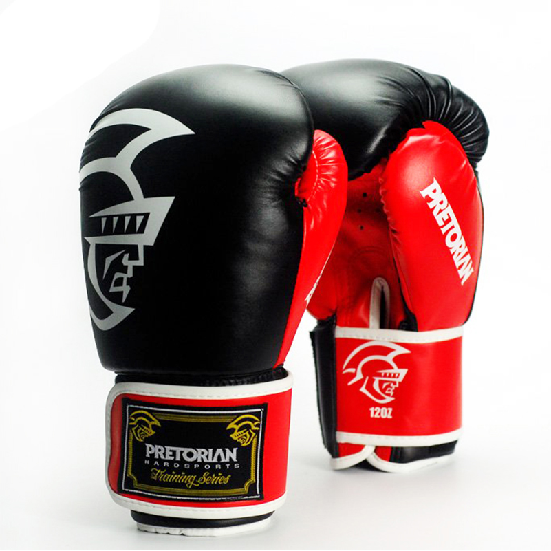 10-16OZ Wholesale PRETORIAN Pair Muay Thai PU Leather Boxing Gloves Men Women Training MMA