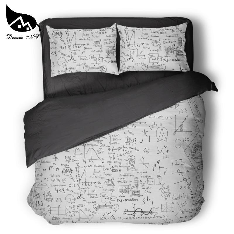 Geek sci-fi DNA mathematics chemistry children/'s room bedding set Quilt cover