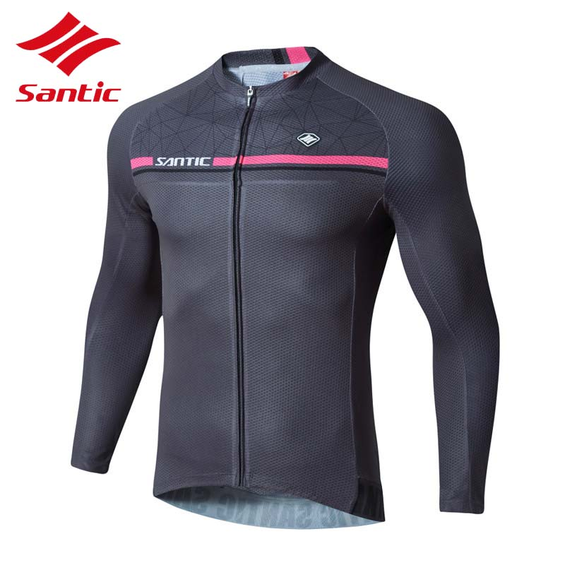цена на Santic Men Cycling Jersey 2018 Outdoor Sports Bike Clothing For Men Shirts Road Bicycle Jersey Long Sleeve Camisa Ciclismo