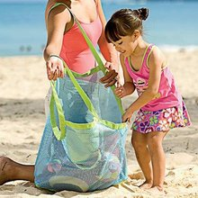 1 PCS Mesh Beach Bag Pack Pouch Box Tote Portable Carrying Toys Beach Kid Toy Bag Children's Beach Baby Bag Collection(China)
