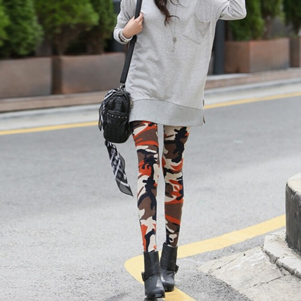 1Pcs 3 Color Autumn Winter Women Camouflage Army Green Stretch Leggings Pants Trouser Graffiti Slim Women Sexy pants