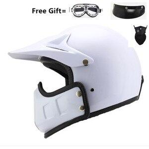 Image 3 - motocross casco moto vintage motorcycle helmet jet capacetes de motociclista off road cascos para moto thompson modular