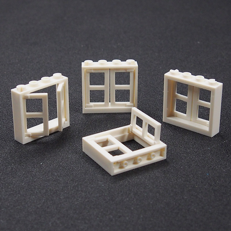 City Block Moc Building Blocks Window DIY Blocks Friend Figure Compatible Legoings Toy For Kids