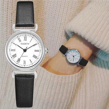 Exquisitos relojes pequeños de vestir para mujer, reloj Retro de cuero para mujer, moda femenina, Mini diseño, pulsera, relojes de pulsera, reloj