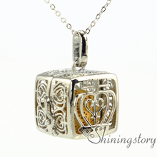 oil diffuser necklace locket for girl lockets for mom essential oil necklace canada(China)