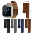 Replacement Genuine Leather Wrist Watchband strap for Fitbit Blaze Activity Tracker SmartWatch Heart