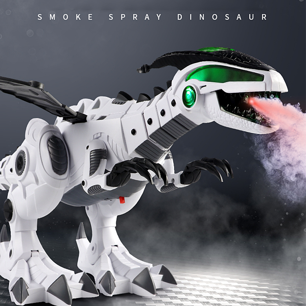 For Boy Electric Spray Dinosaur Model Figures Simulated Fire Jurassic Dinosaur Mechanical Diversified Function Toys For Children