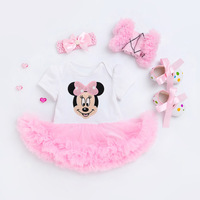 Summer Design Kids Minnie Rompers Clothes Girls Baby Clothing Ruffles Cotton Newborn Girls Boutique Outfits 3