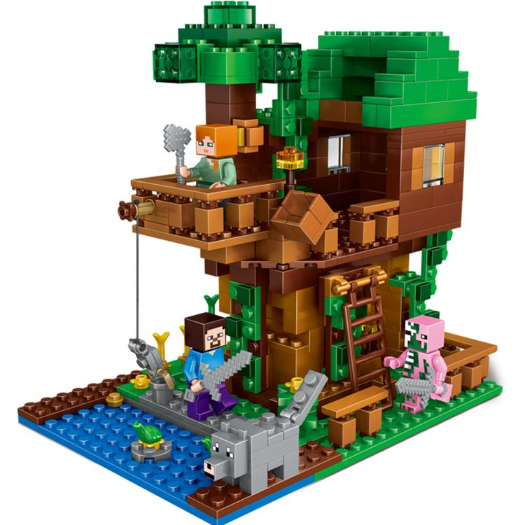 Minecraft Set The Jungle Tree House Building Bricks Block Set Compatible With Lego 21125