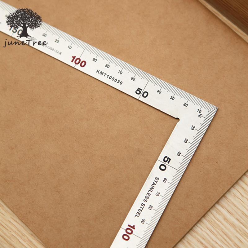 DIY Handmade Cowhide Leather Tool Shop Brand Right Angle Ruler 30 Cm -wide Stainless Steel 0920