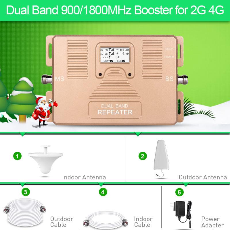 Amplificateur de Signal cellulaire GSM Tele2 2G 4G à double bande 900 et 1800 mhz pour voix et date RU