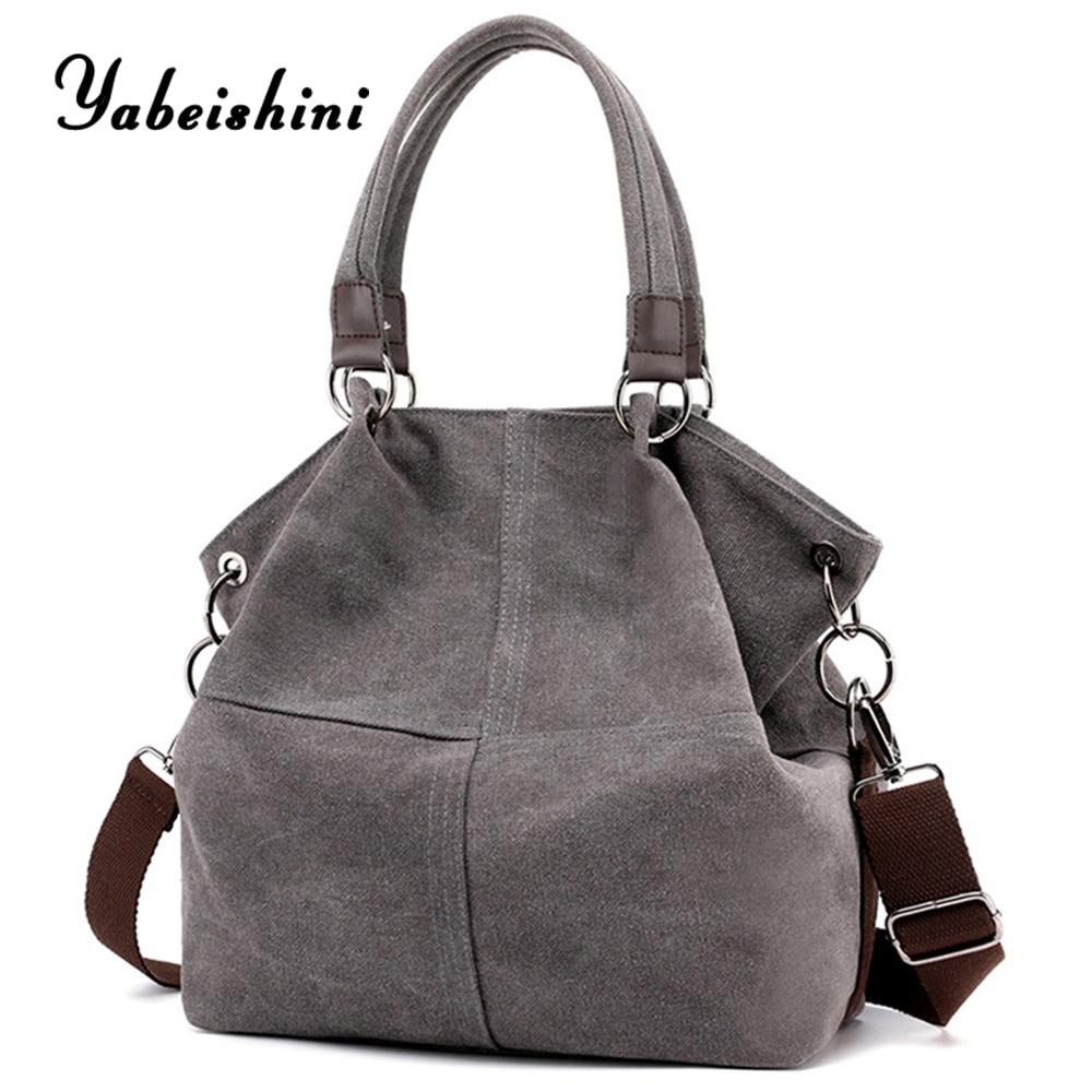 New Casual Handbag For Women Shoulder Bags Environmental Shopping Bag Tote Package Gray Crossbody Bags Travel Storage Sac A Main