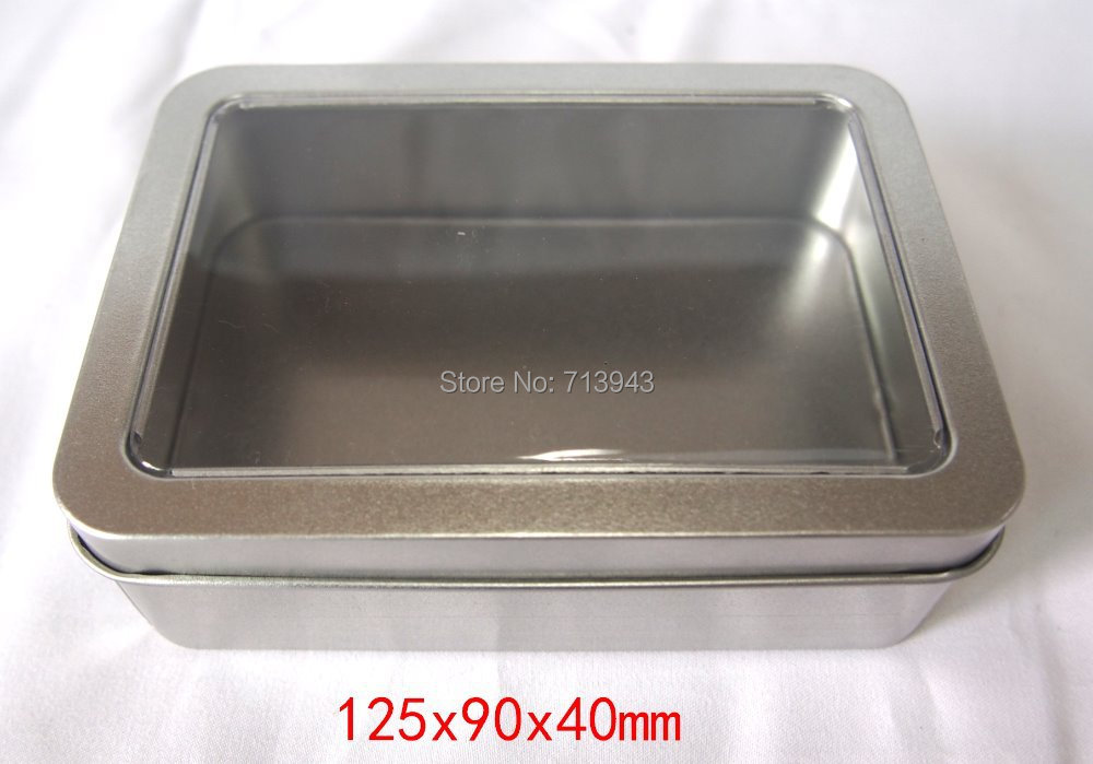 Packing-Box Window Jewelry-Box/gift Metal With Pvc And Size:125x90x40
