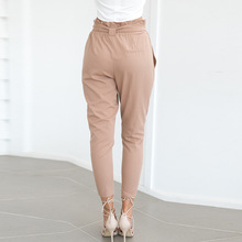 FREE SHIPPING High Elastic Waist  Pants Women Trousers Belt JKP342