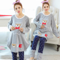 Pregnant women fall winter breastfeeding thick large size pregnant cartoon bear pajamas