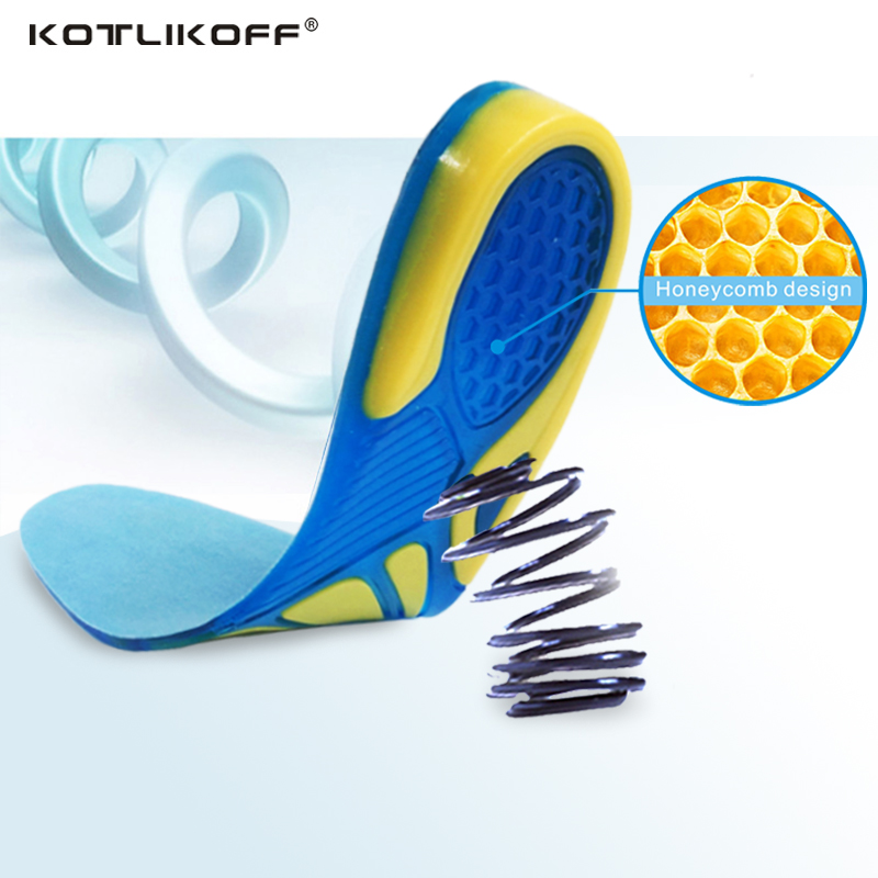 Silicon Gel Insoles Foot Care for Plantar Fasciitis Heel Spur Running Sport Insoles Shock Absorption Pads arch orthopedic insole soumit silicone gel honeycomb massage sports insoles shock absorption for men women plantar fasciitis sport shoes insole pads