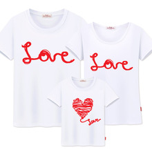 Family matching clothing mother and daughter clothes family look t-shirt mother son outfits cotton letter dad son clothes love