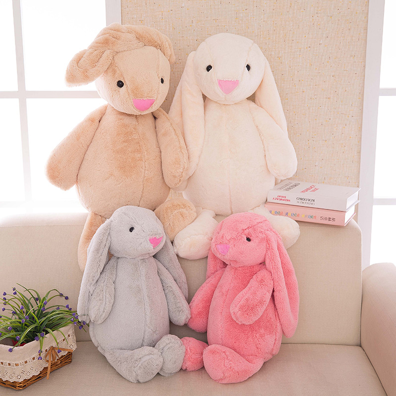 Cute Bunny Soft Plush Rabbit Stuffed Animal Toy Appease Baby Bed Pillow Toy Kids Baby Girls Kawaii Kid Baby Birthday Gift 1pc 65cm cartion cute u shape pillow kawaii cat panda soft cushion home decoration kids birthday christmas gift