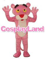 Mascot Adult Costume Hot Cartoon Character Pink Panther Mascot Costume Leopard Fancy Carnival For School