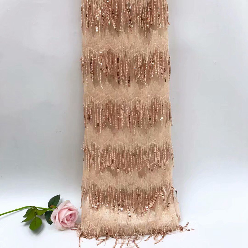 New African High Quality Lace Fabric 2018 French Nets Fashion Tassel Lace Fabric Embroidery ThinNew African High Quality Lace Fabric 2018 French Nets Fashion Tassel Lace Fabric Embroidery Thin