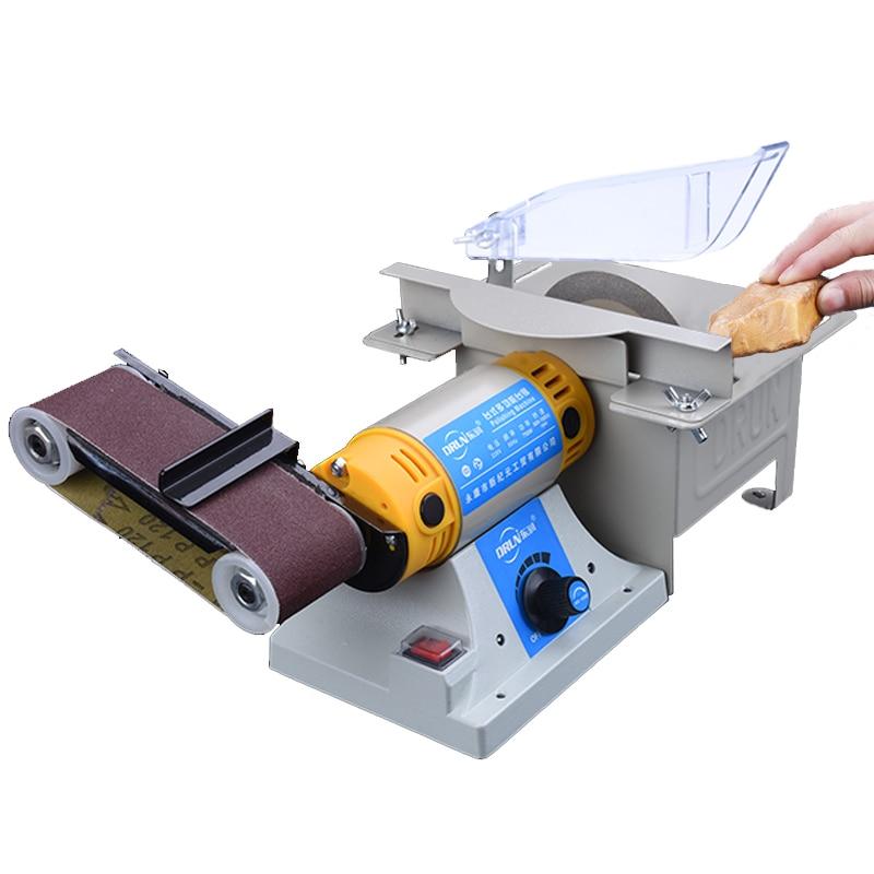 220V DIY Desktop multifunction belt sander Jade table saw mill woodworking polishing cutting machine Y