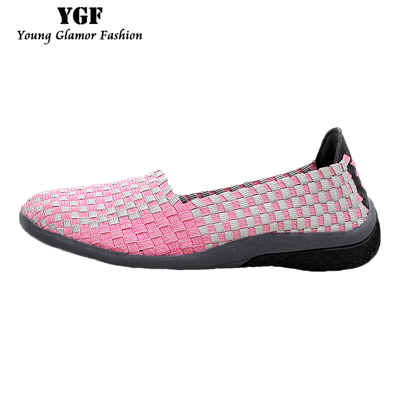 YGF Women Loafers Flats 2017 Summer Woven Shoes for Ladies Loafers Soft Breathable Slip on Female Casual Shoes 3 Colors new women shoes breathable fashion ladies flats non slip summer wedges shoes for women aa10218