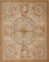 Hand Made French Aubusson Weave Rug Wool Savonnerie Design Needlepoint Handmade Fashionable Household Decorates Circular Carpet