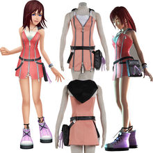 High-quality Beautiful Kingdom Hearts Kairi Cosplay Costume Pink Dress Custom Size Suit Cartoon Character Costumes
