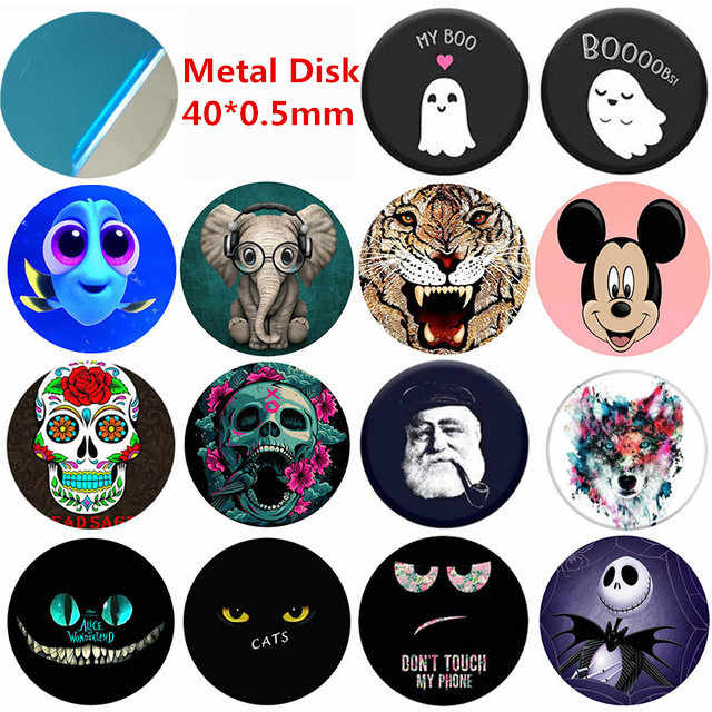 40x0.5mm Metal Plate sheet for Magnet Mobile Phone Holder For Magnetic Car Phone houder holders porta telefono auto