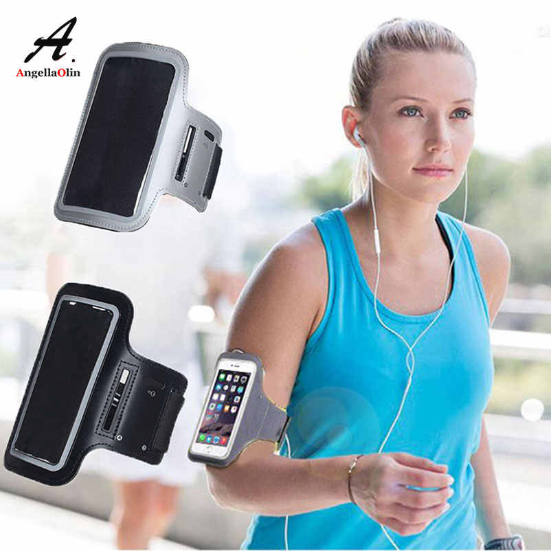 Gray Waterproof Gym Sports Running Armbands For iphone X 10 8 6 6s 7 plus 4 4s 5 5s 5c SE Arm Band Fitness Phone Bag Case Cover