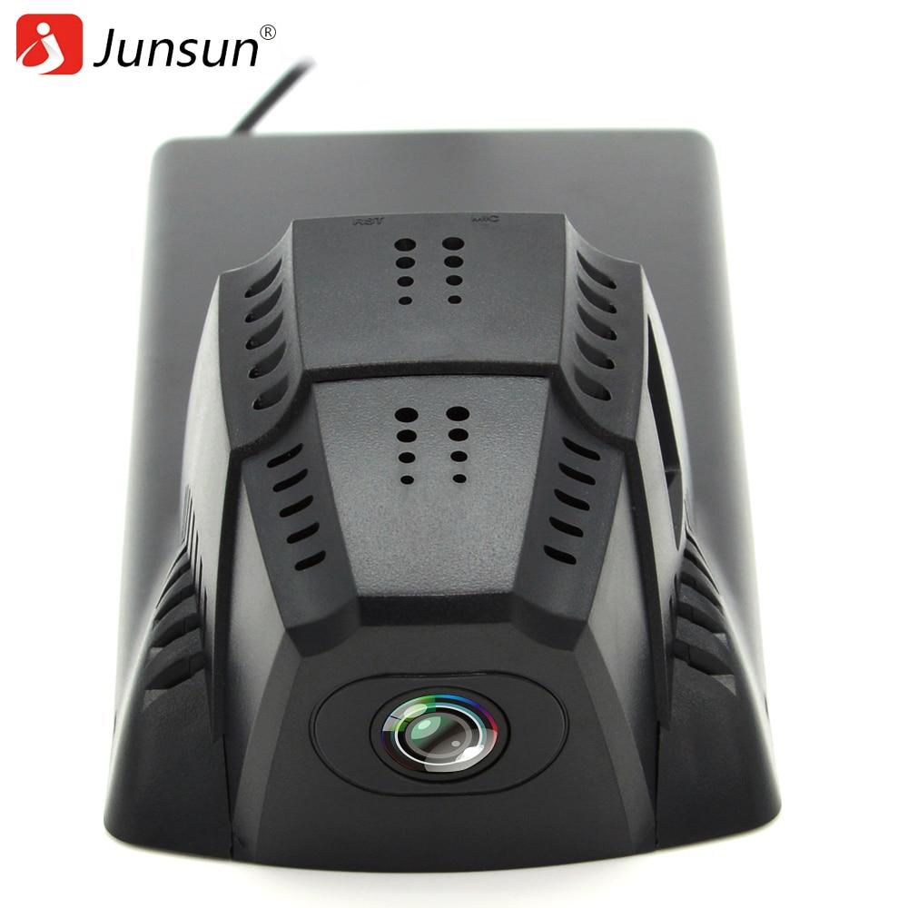 Junsun WiFi Car DVR DVRs Registrator Dash Camera Cam Digital Video Recorder Camcorder 1080P for Citroen C5 Night Version 96655 junsun wifi car dvr camera dash cam novatek 96655 for peugeot cyclic recording full hd 1080p video recorder registrar camcorder