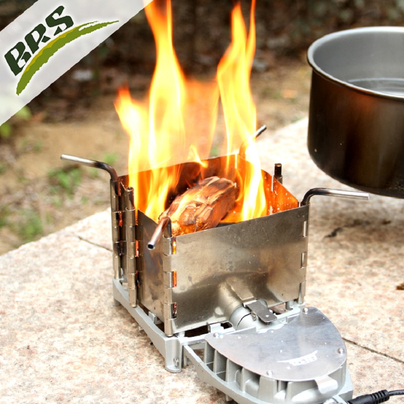 Brs ultralight wood burning stove portable folding outdoor for Outdoor wood cooking stove